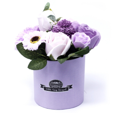 Soft Lavender Soap Bouquet Petite Gift Pot